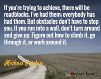 Obstacles Don't Have To Stop You Michale Jordan